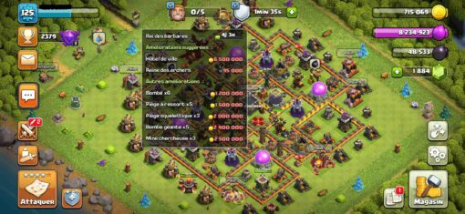 Achat compte clash of clan