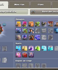 Achat compte clash of clans HDV 10