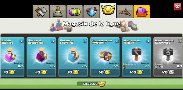 Achat compte clash of clans HDV14