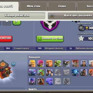 Achat compte clash of clans dhv10
