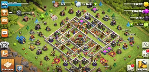 Achat compte clash of clans hdv12