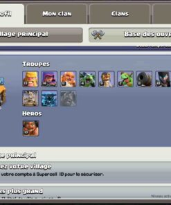 Achat compte clash of clans th 10