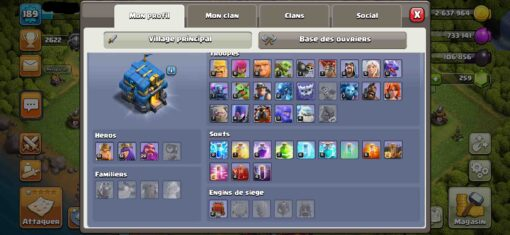 Achat compte clash of clans th12