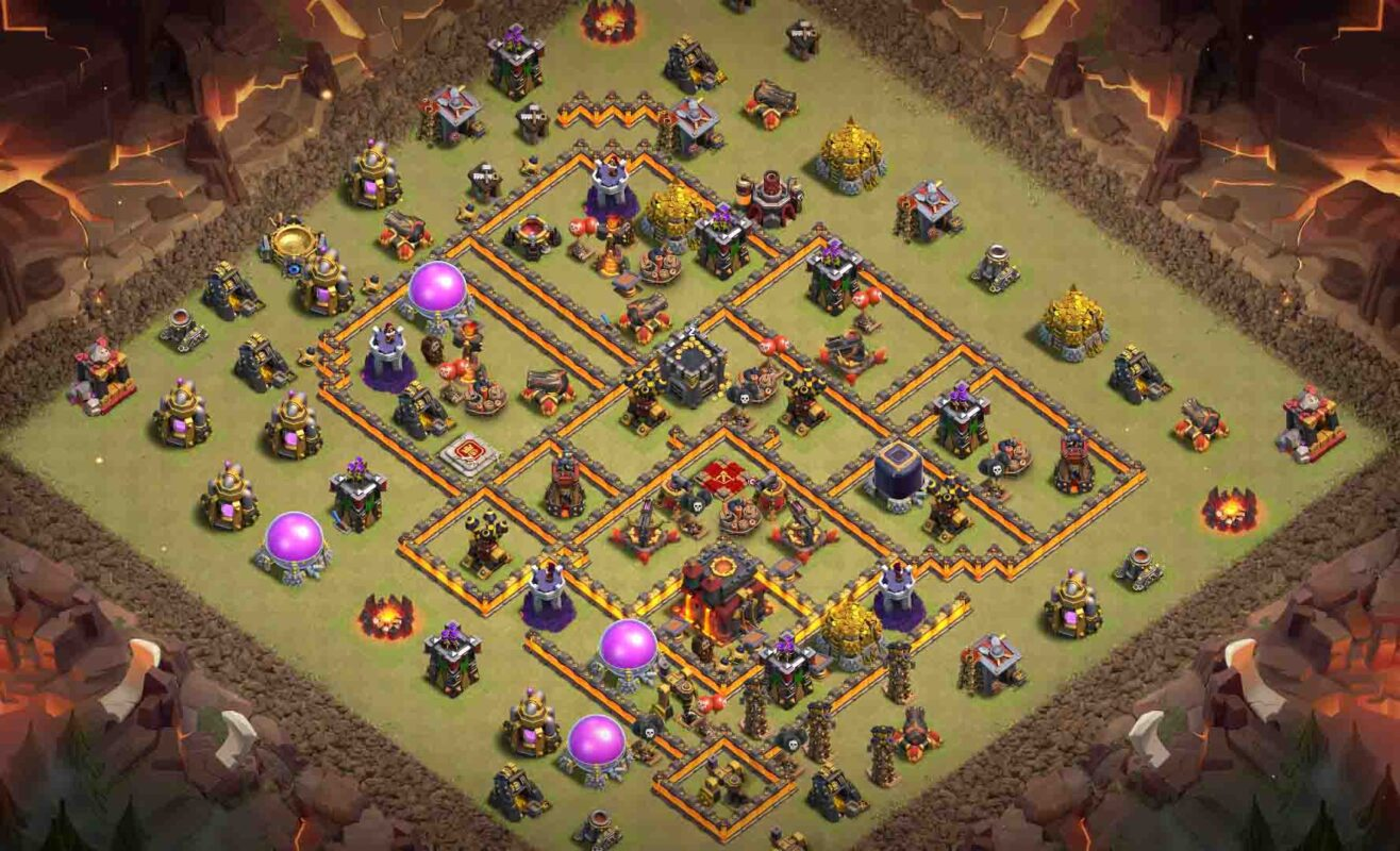 Base clash of clans HDV 10