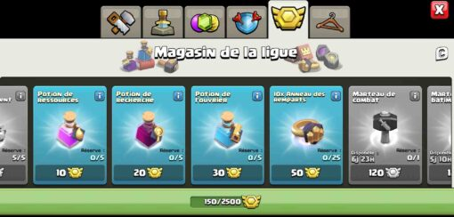 Clash of clans compte hdv14