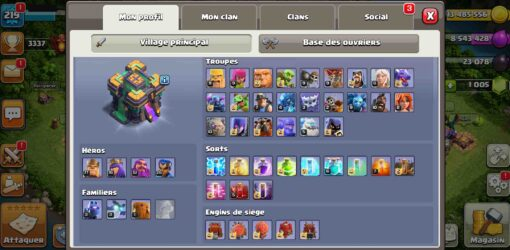 Compte clash of clans hdv14