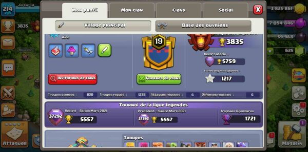 HDV14 compte clash of clans