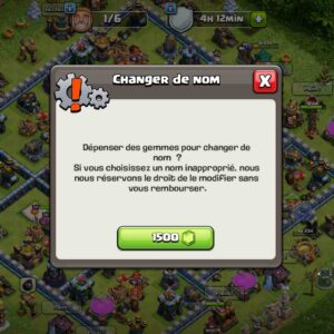 clash of clans change name account