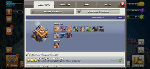 Achat compte clash of clan hdv 14