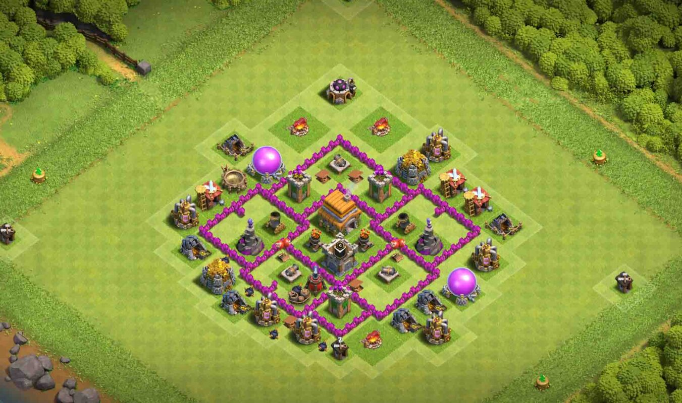 Th6 base clash of clans