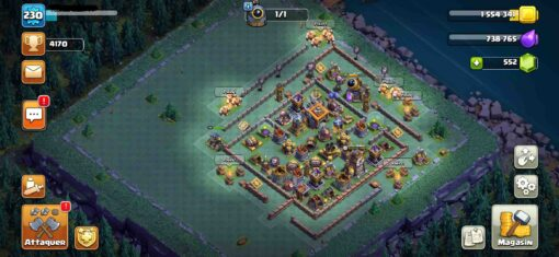 achat compte clash of clan hdv14