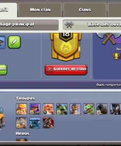 achat compte clash of clan th 14