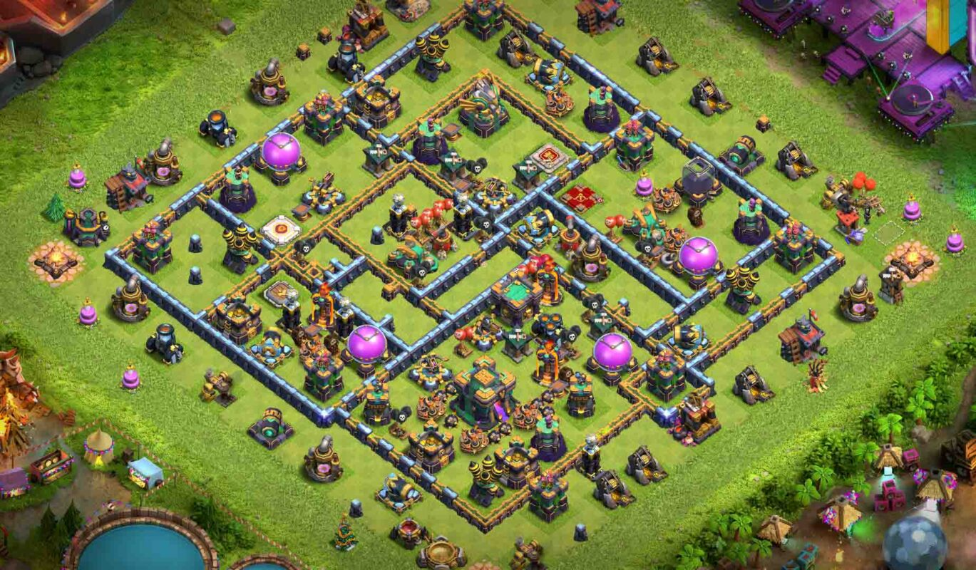 clash of clans base th14