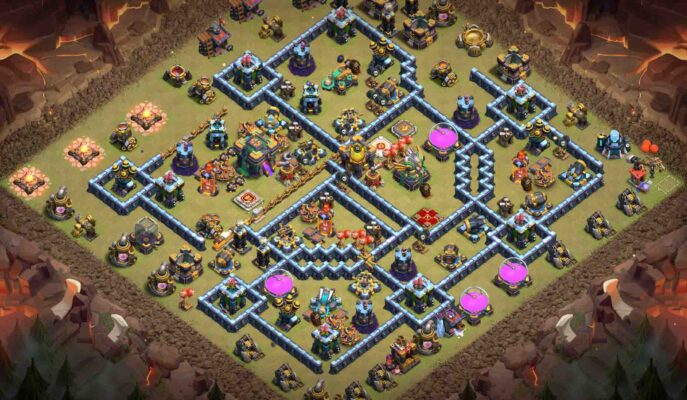 Th14 base clash of clans